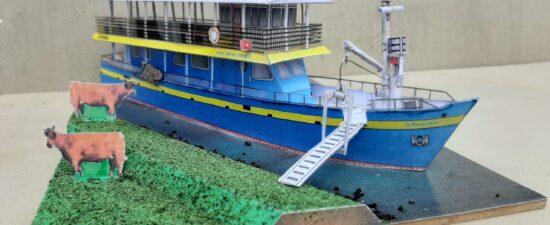 bouwplaat blauwe bever